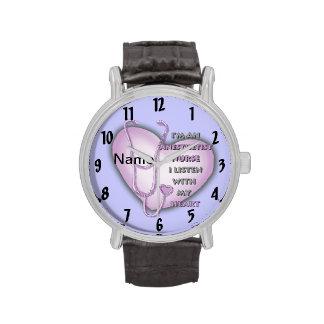 Paarse Anesthetist Verpleegster Horloge