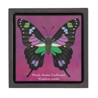 Paarse Bevlekte Swallowtail Premium Cadeau Doosje