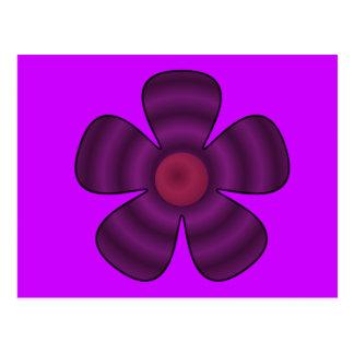 paarse bloem briefkaart