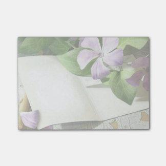 Paarse Bloemen Post-it® Notes