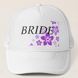 paarse bloemen trucker pet