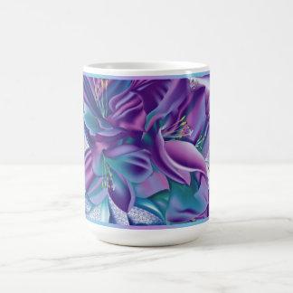 Paarse bloemenpatroonmok koffiemok