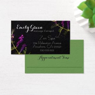paarse bloemenvisitekaartjes visitekaartjes