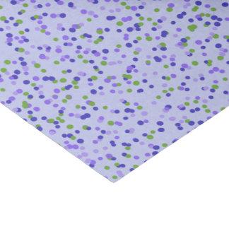 Paarse confettien tissuepapier