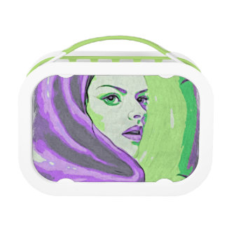 paarse damehoutsnede lunchbox