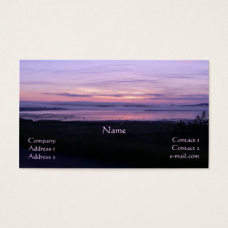 Paarse Dawn Business Size Profile Card Visitekaartjes
