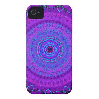 Paarse de caleidoscoopiPhone 4 van Mandala van Psy iPhone 4 Hoesje