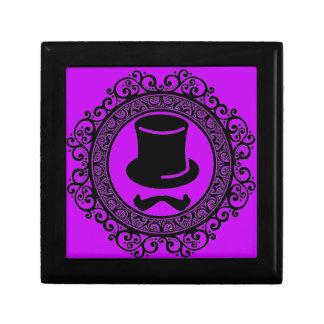 paarse de herinneringdoos van het snorpet hipster decoratiedoosje