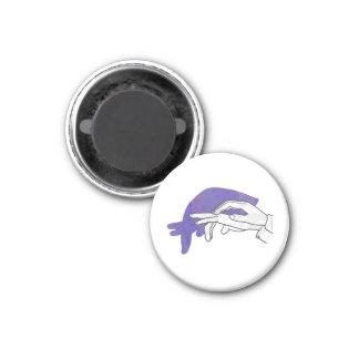 Paarse de Miereneter van het Silhouet van de hand Ronde Magneet 3,2 Cm