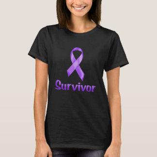 Paarse de Overlevende van kanker T Shirt