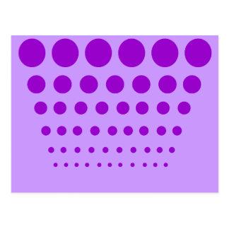 Paarse Een diploma behaalde Cirkels Briefkaart