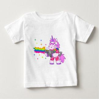 Paarse Eenhoorn - Pistool Baby T Shirts