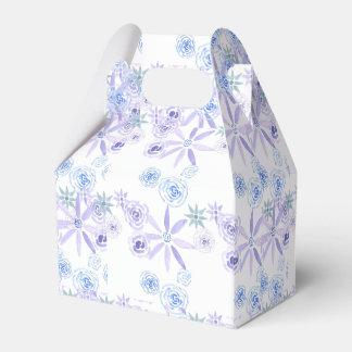Paarse en blauwe bloemengift/gunstdoos bedankdoosjes
