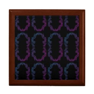 paarse en blauwe ontworpen herinneringdoos decoratiedoosje