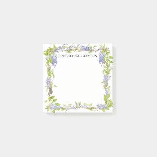 Paarse en Blauwe Waterverf Bloemen, Post-it® Notes