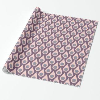 Paarse en Roze Retro Dalingen Inpakpapier