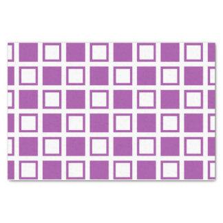 Paarse en Witte Vierkanten Tissuepapier