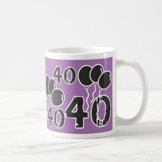 PAARSE en ZWARTE 40ste Verjaardag - 40 yrs oude Koffiemok