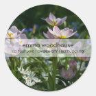 Paarse & Gele Tulpen DSC0853 Ronde Sticker