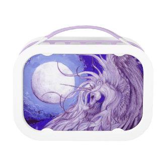 Paarse Gevleugelde Eenhoorn met Lunchbox van de