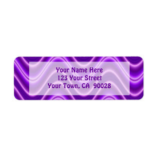 paarse golven etiket