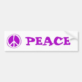 Paarse het Teken van de vrede - Bumpersticker
