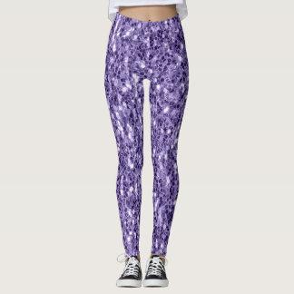 Paarse het ultraviolet schittert fonkelingen leggings