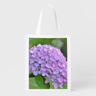 Paarse hydrangea hortensia boodschappentas