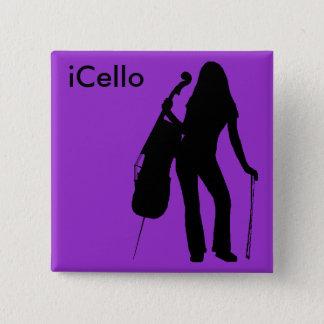 (paarse) iCelloSpeld Vierkante Button 5,1 Cm