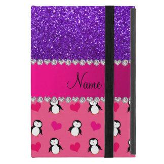 Paarse indigo van de naam schittert de roze iPad mini hoesje