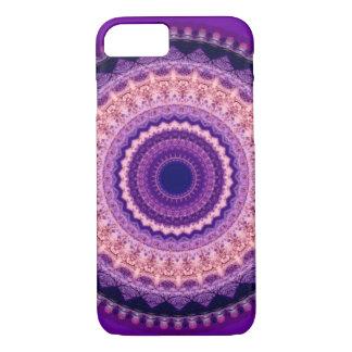 Paarse iPhone 7 van Mandala van het Paradijs iPhone 8/7 Hoesje