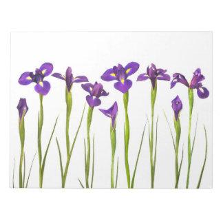 Paarse Irissen - de Aangepaste Sjabloon van de Notitieblok