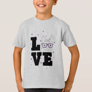 Paarse Kalverliefde T Shirt