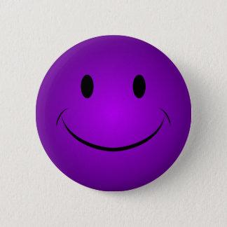 Paarse Knoop Smiley Ronde Button 5,7 Cm