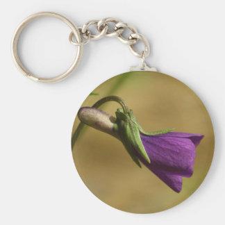 Paarse Liefde (paarse bloem) keychain Sleutelhanger