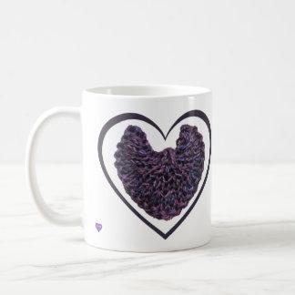 Paarse Linkshandige van de Vleugels van de Engel Koffiemok