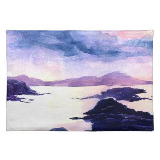 Paarse Loch Lomond die Watercolour Placemat