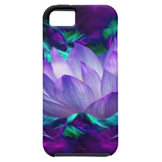 Paarse lotusbloembloem en zijn betekenis tough iPhone 5 hoesje