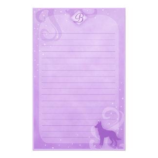 Paarse Magische Belgische Kantoorbehoeften Malinoi Aangepast Briefpapier