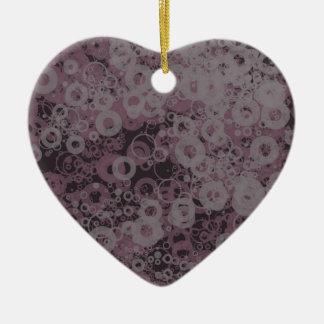 Paarse naadloos keramisch hart ornament