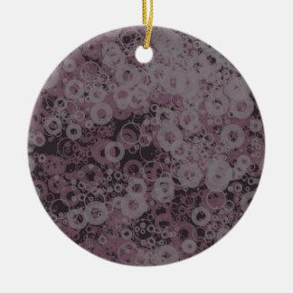 Paarse naadloos rond keramisch ornament
