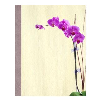 Paarse orchidee gepersonaliseerde folder