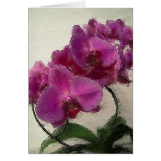 Paarse Orchidee Kaart