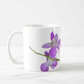 Paarse Orchideeën Koffiemok