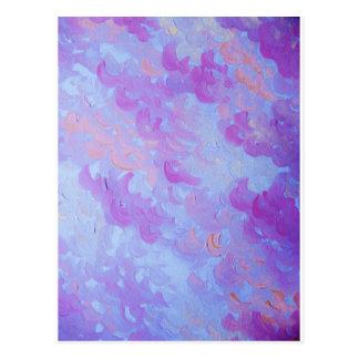 PAARSE PLUIMEN - de Zachte Wolken van de Lavendel Briefkaart