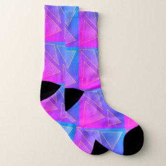 paarse roze driehoeken sokken