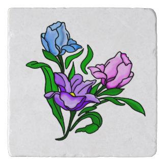 Paarse, Roze en Blauwe Bloemen Trivet
