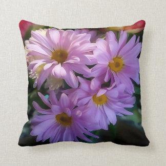Paarse Shasta Daisy Flower Throw Pillow Sierkussen