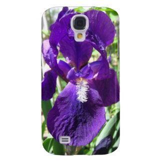 Paarse Siberische Iris in de Dekking van de Tuin Galaxy S4 Hoesje