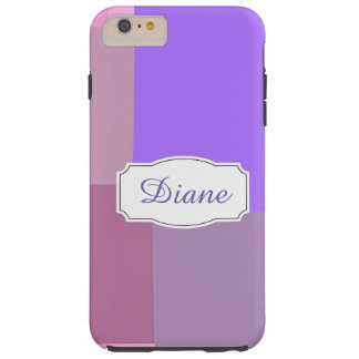 Paarse squares&rectangles tough iPhone 6 plus hoesje